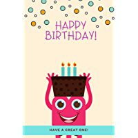 Happy Birthday | Daily Planner Notebook: Activities Journal for today (Cute Book for Kids, Girls, Boys, School and Students) (English Edition)