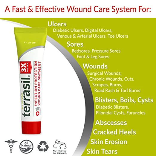 Amazon.com: Terrasil® Wound Care, 3X curación ...