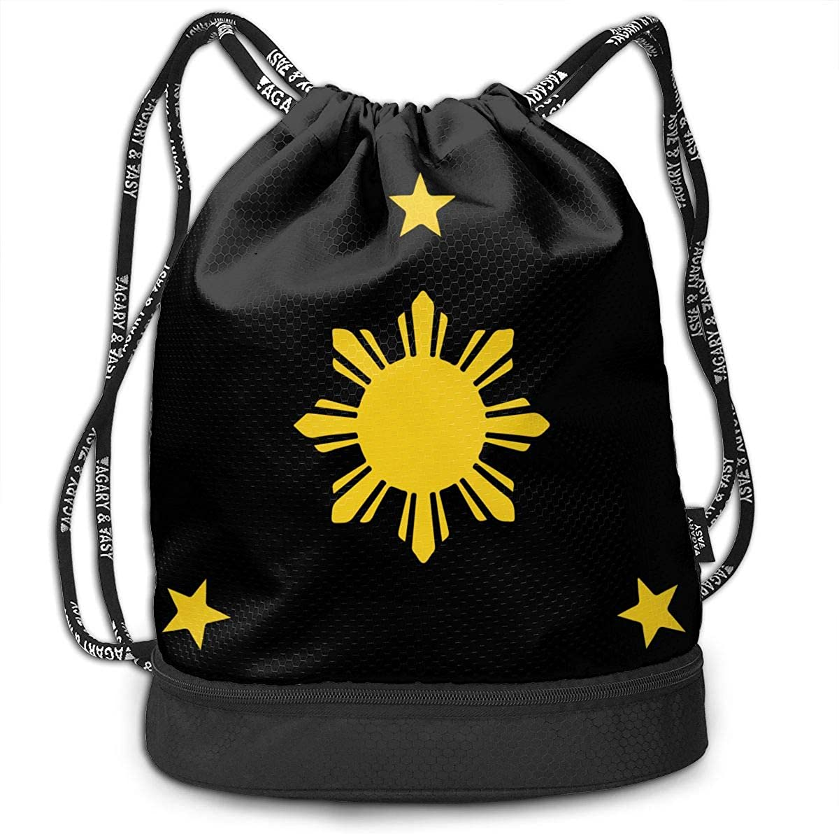 Philippines Sun And Stars Drawstring Bag Multifunctional String Backpack Custom Cinch Backpack Sport Gym Sack
