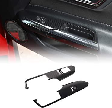 JeCar Car Reading Light Control Panel Trim Cover Interior Decoration Accessories for Ford Mustang 2015-2017 Red