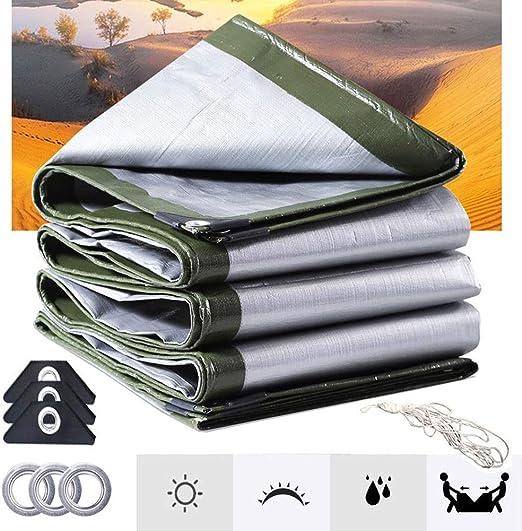 Basinnes Protección Lonas Impermeable 160 G/M²,para Muebles De Jardín, Piscina, Coche, Lona De Protección Impermeable Y Resistente A La Rotura,4.8x5.8m: Amazon.es: Hogar
