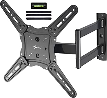Everview Tv Wall Mount Bracket Fits To Most 26 55 Inch Led Lcd Oled Flat Panel Tvs Tilt Full Motion Swivel Articulating Arms Tv Bracket Vesa 400x400 77lbs Loading With Cable Ties Electronics