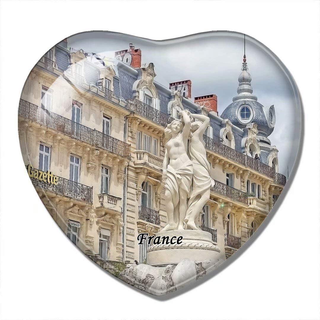 France Magnet France Comedy Square Montpellier 3D Fridge Magnet Crafts Souvenir Crystal Refrigerator Magnets Collection Travel Gift