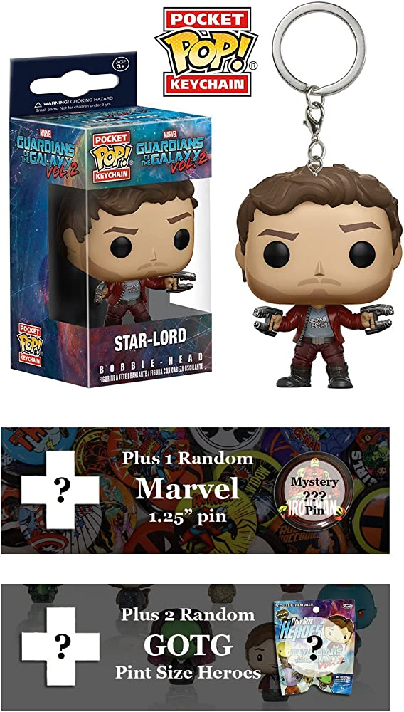Amazon.com: GOTG Star Lord Bundle 2 – Llavero, 2 Pinta ...