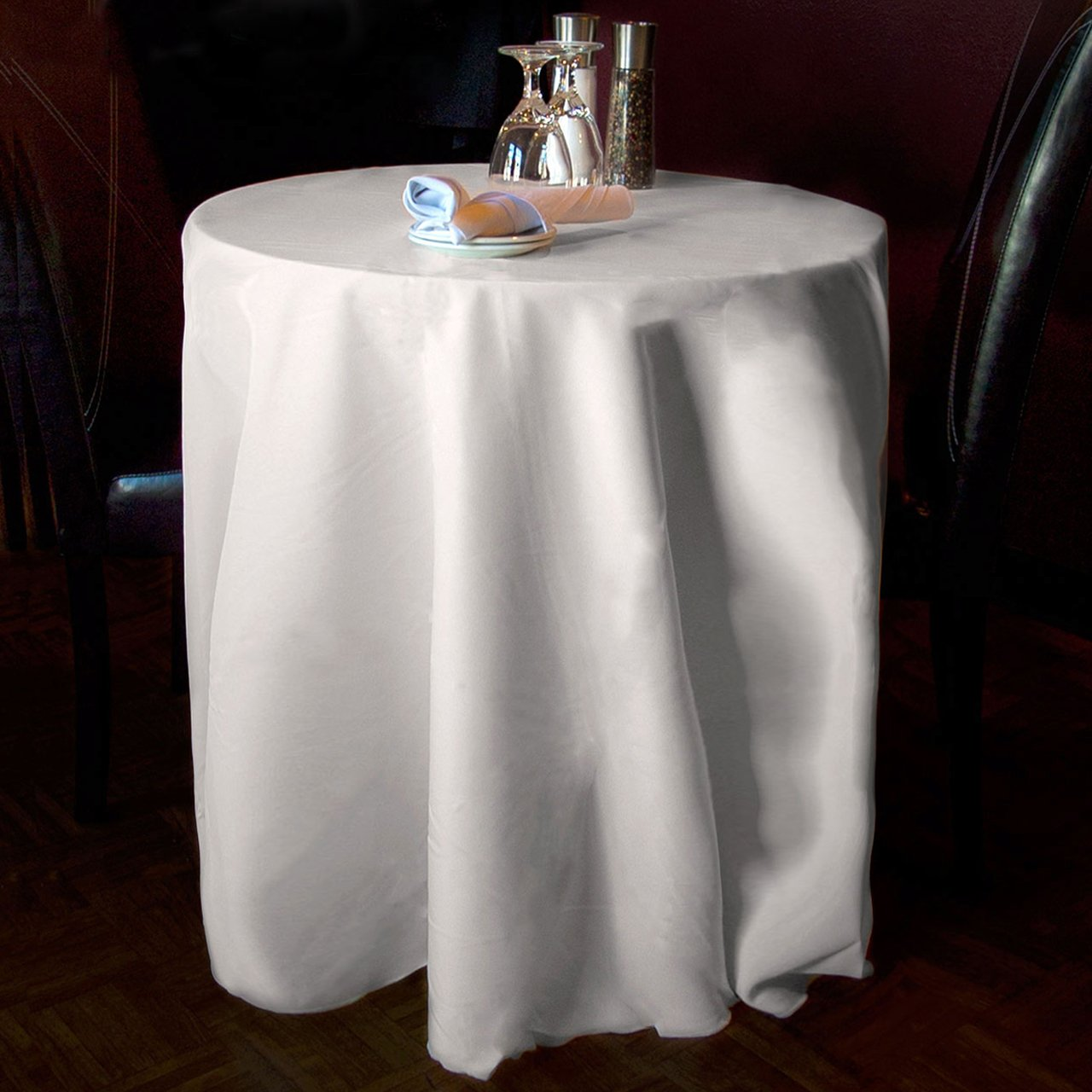 White round tablecloths cheap - Amazon Com New Pack Of 10 120 White Round Tablecloths Seamless 100 Heavy Woven Polyester Home Kitchen