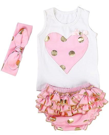 213f98218d4e Amazon.com  Messy Code Lovely Design Posh Gold Polka Dots Baby Girls ...