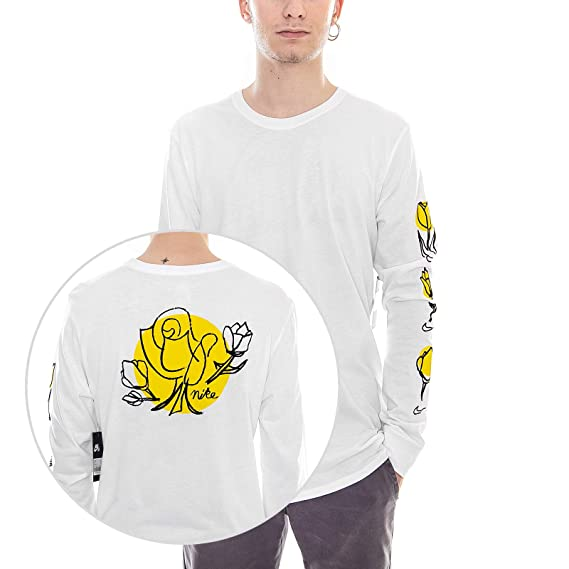 2144bd4da9a Nike - T-Shirt - SB Roses - White Yellow Black (S)  Amazon.co.uk  Clothing