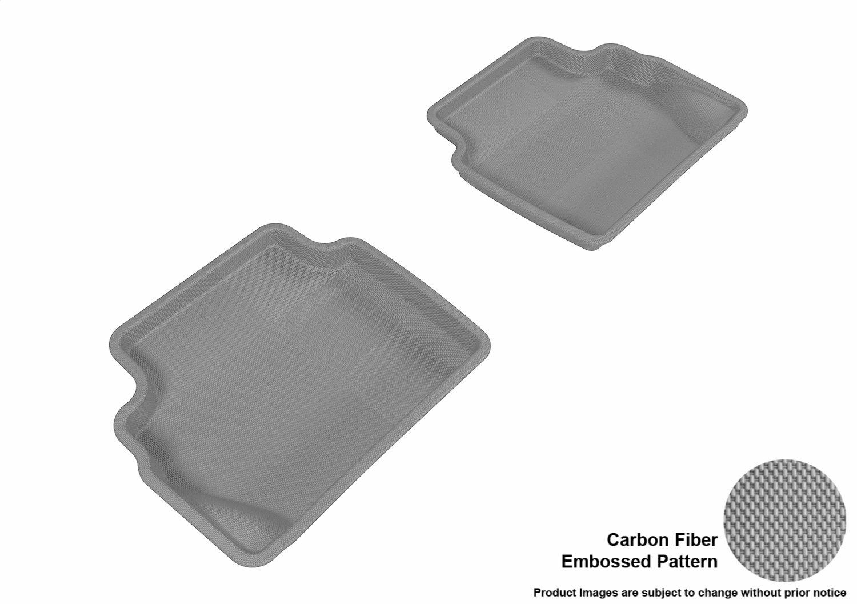 3D MAXpider L1FR08021502 Custom Fit All-Weather Kagu Series Floor Mats Tan Second Row for Ford Fiesta Models