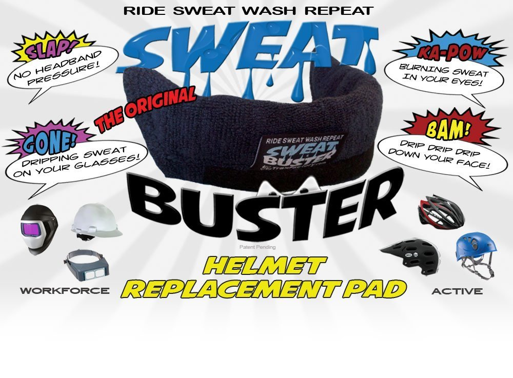 MTB Road Sweat Buster Helmet Sweatband Simple Removal for Washing Mountain Climbing or Any Shell Type Helmet Cycling Extra Comfortable /& No Drips Trax Factory