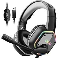 EKSA USB Gaming Headset - 7.1 Surround Stereo Sound - PS4 Headphones with Noise Canceling…