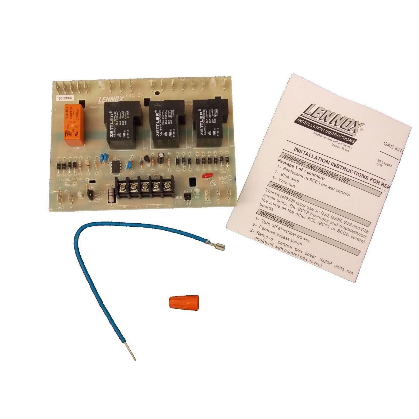 716luVWb%2B9L._SL1366_ amazon com fascoh 48k98 lennox bcc3 blower control circuit board  at highcare.asia
