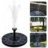 Solar Springbrunnen, Ubegood Solar Teichpumpe mit 1.4W Monokristalline Solar Panel Freie stehende Brunnen und pumpe Solar Wasserpumpe für Gartenteich,Vogel-Bad, Fisch-Behälter, kleiner Teich