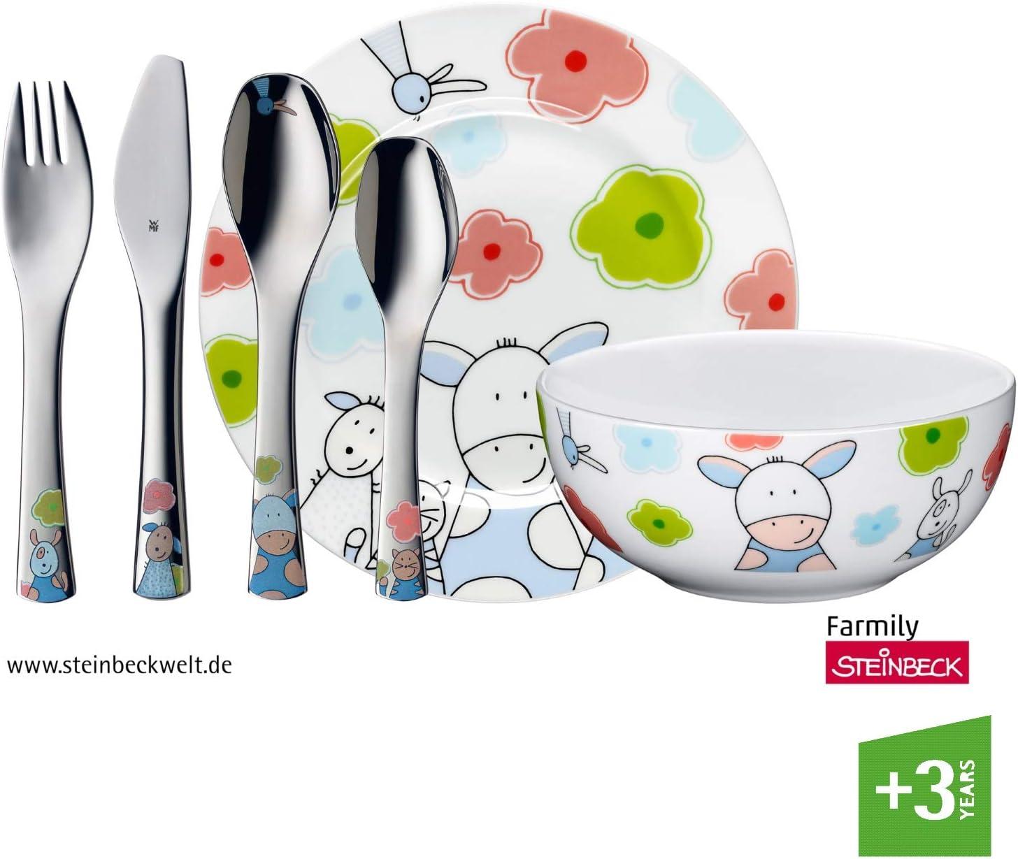 WMF Farmily - Vajilla para niños 6 piezas, incluye plato, cuenco y ...