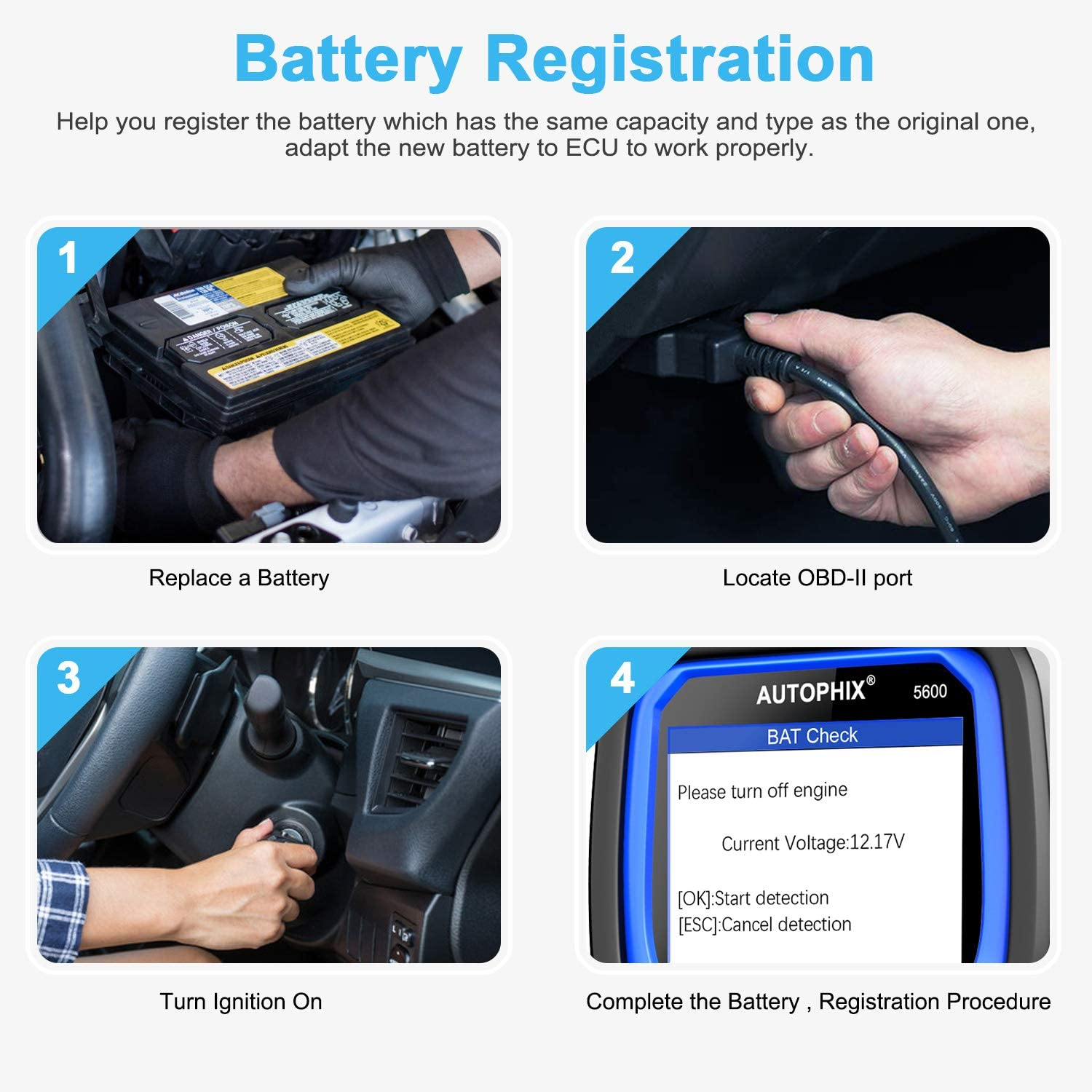 Professional Automotive OBD2 Scanner Code Reader for VW Audi Skoda Seat,5600 Multi-Systems Diagnostic Scan Tool with ABS//Transmission//BMS//PCM//EPB//TPMS//SAS//Oil Reset Battery Registration Tool