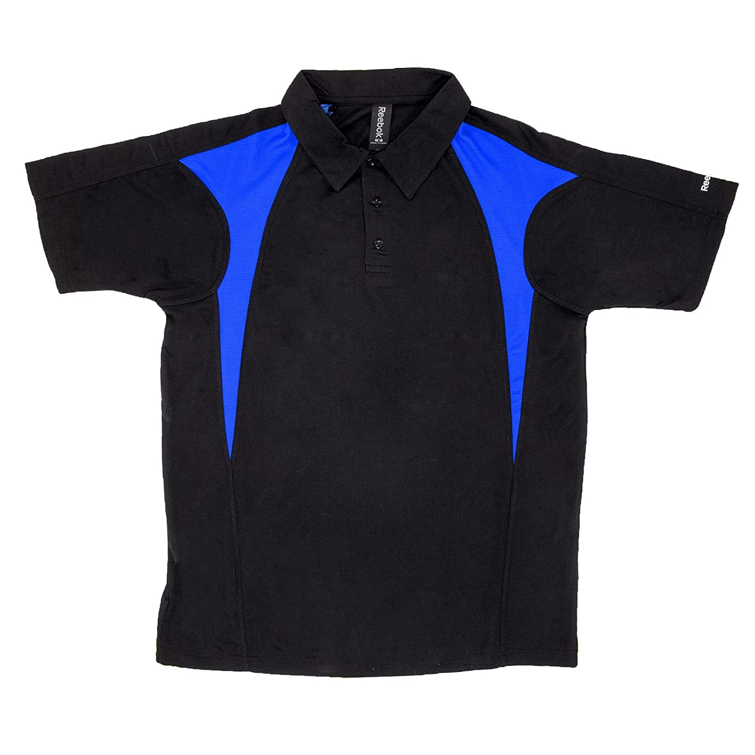 Reebok Mens Colorblock Golf Polo X-Large Black/Royal Blue: Amazon ...