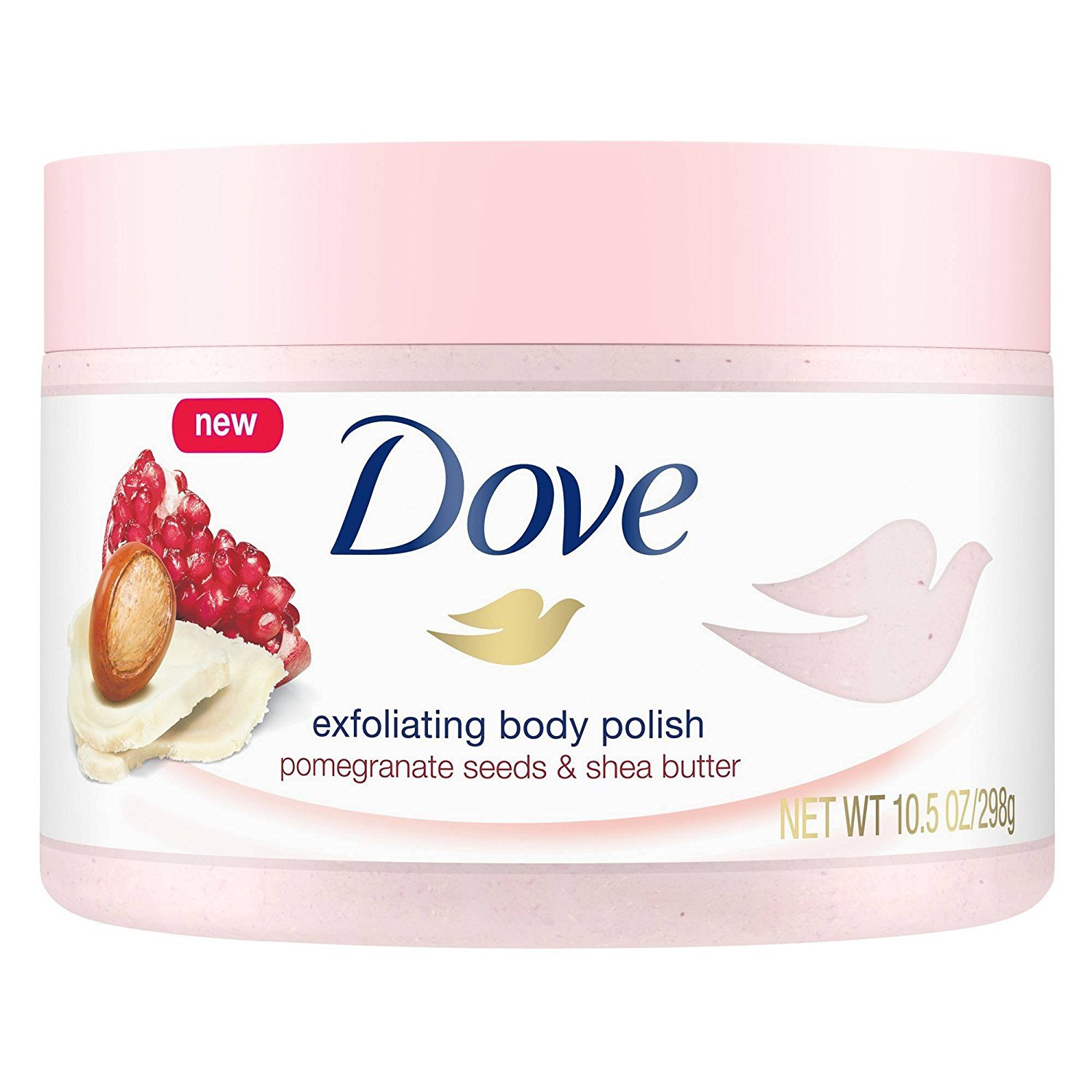 Amazon Com Dove Exfoliating Body Polish Body Scrub Pomegranate And Shea 10 5 Ounce Beauty