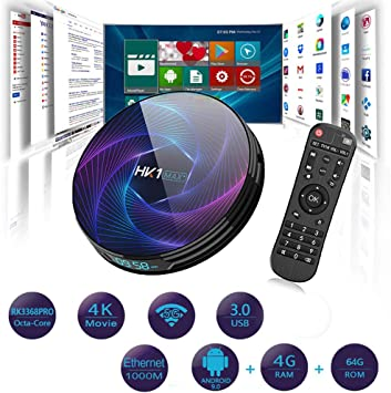 Erommy Smart TV Box,Android 9.0 TV Box Smart Player 4GB RAM 64GB ...