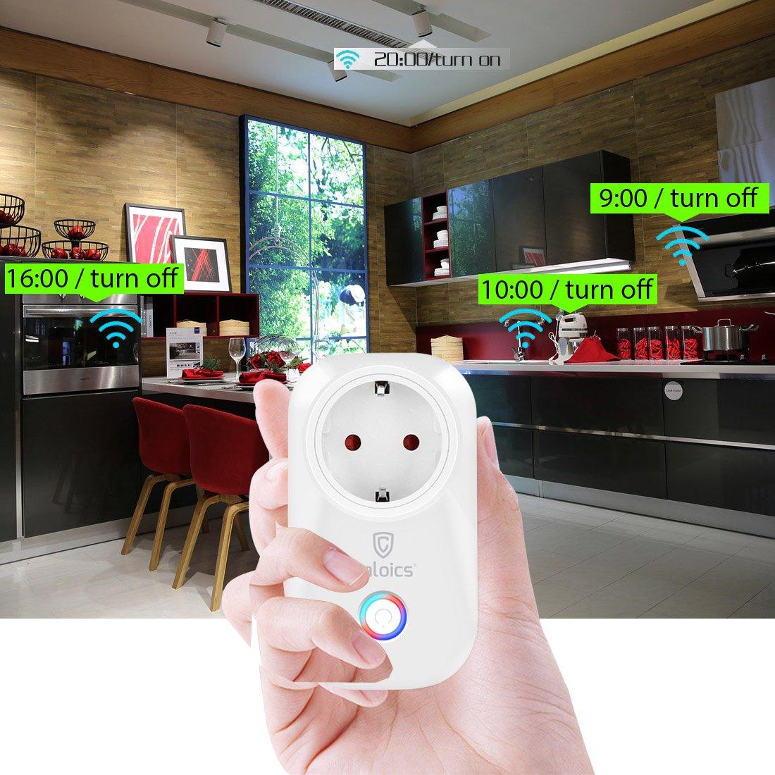 Smart WiFi Plug, Caloics intelligente WLAN Steckdose, schaltbare ...