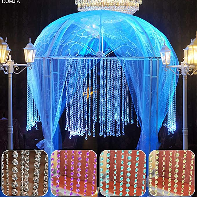 Amazon.com: Hoxekle 1Meters Acrylic Crystal Rhinestone Bead Garland Curtain Chandelier Accessories Wedding Home Decoration DIY Accessories 4 Colors: Home & ...