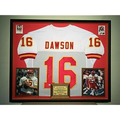 381a32404 Premium Framed Len Dawson Autographed Chiefs Jersey Autographed JSA  Authentic Coa