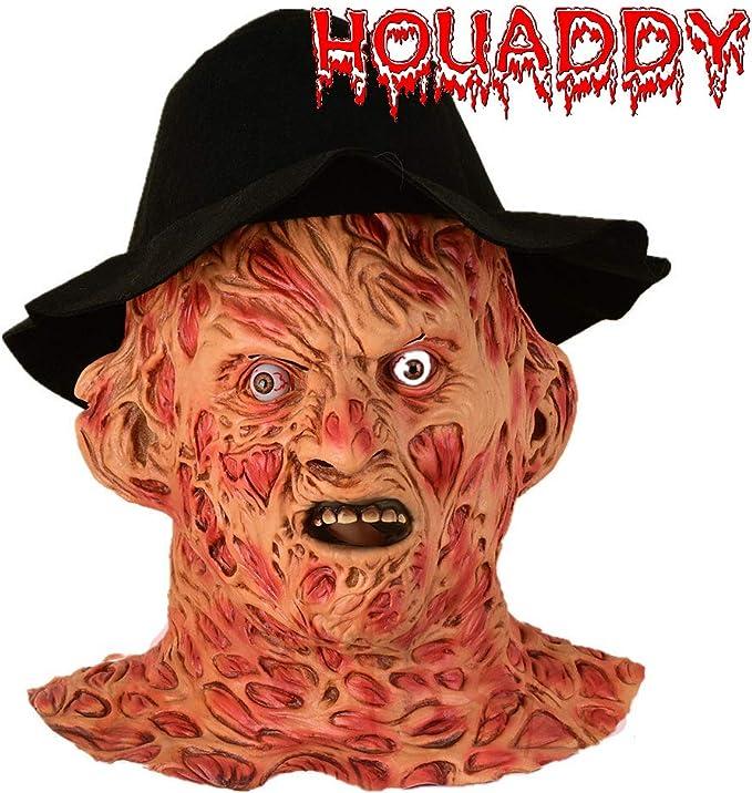HOUADDY Máscara de Terror Freddy Krueger Máscaras de Halloween ...