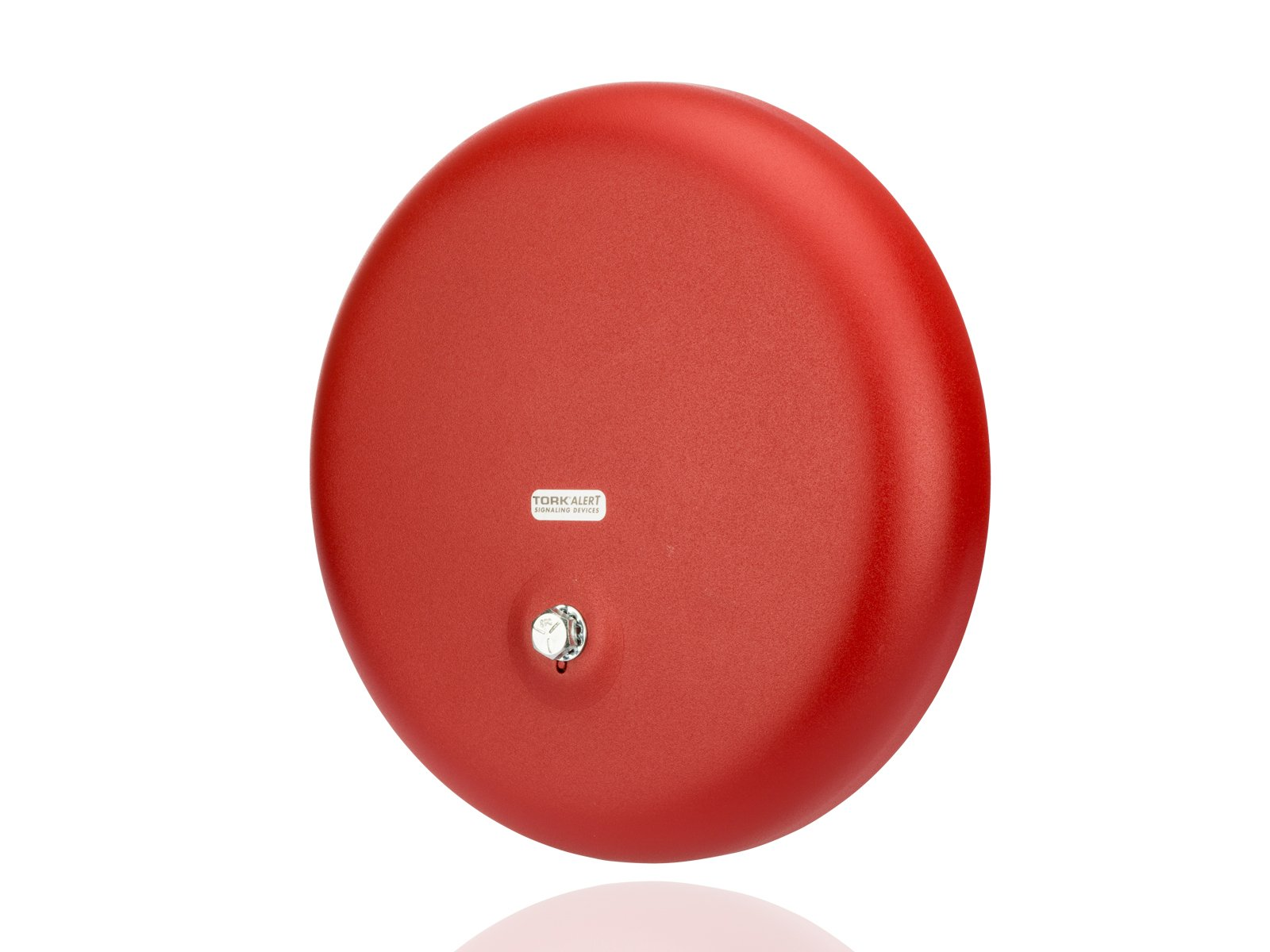 Steel/Aluminum Heavy Duty AC Vibrating Bell, 10'' Shell Size, 120 VAC, 0.065 Amp Input Current, Red