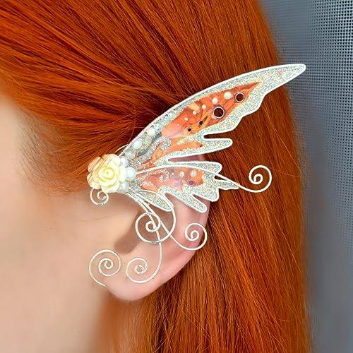 Elf Ear Cuff Wraps Pair Fantasy Costume Cuffs Handmade Gifts Creative Gift Ideas