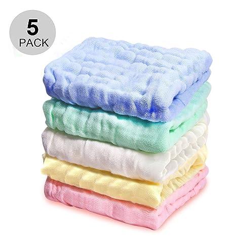 Bebé muselina paños y toallas – iceblueor 100% natural algodón orgánico suave Recién Nacido Bebé