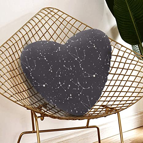 Amazon Com Enevotx Decor Pillows For Bed Star Constellation Outside Decorative 13 78 X Inch Heart Shaped Cushion Gift Friends Children Girl Valentine S Day Home Kitchen