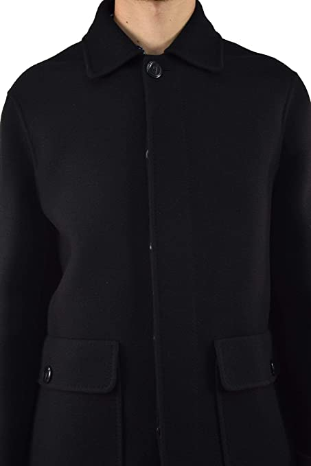 In Made Men's Black Long It52 Coat Size Dsquared2 Buttons H8gBnB0