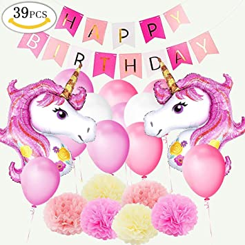 Yansion Unicornio Fiesta Decoracion Unicornio Cumpleanos Supplies 39
