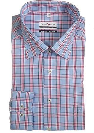 Herrenmode Marvelis-hemd 7959-64-11 Hellblau Langarm New-kent Kragen Eine GroßE Auswahl An Farben Und Designs