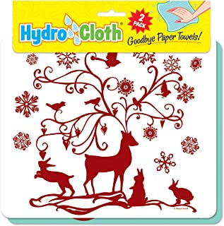 product image for Fiddler's Elbow Hydro Cloth | Set of 2 | Christmas Designs | Eco-Friendly Dishcloths | Large Dish Cloths | Paper Towel Replacements (Fantasy Deer)