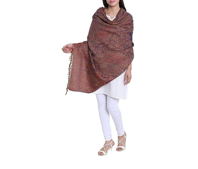 new arrival 6a4bc 961c6 Jamawar scialle di lana con frange, vestito indiano alla ...
