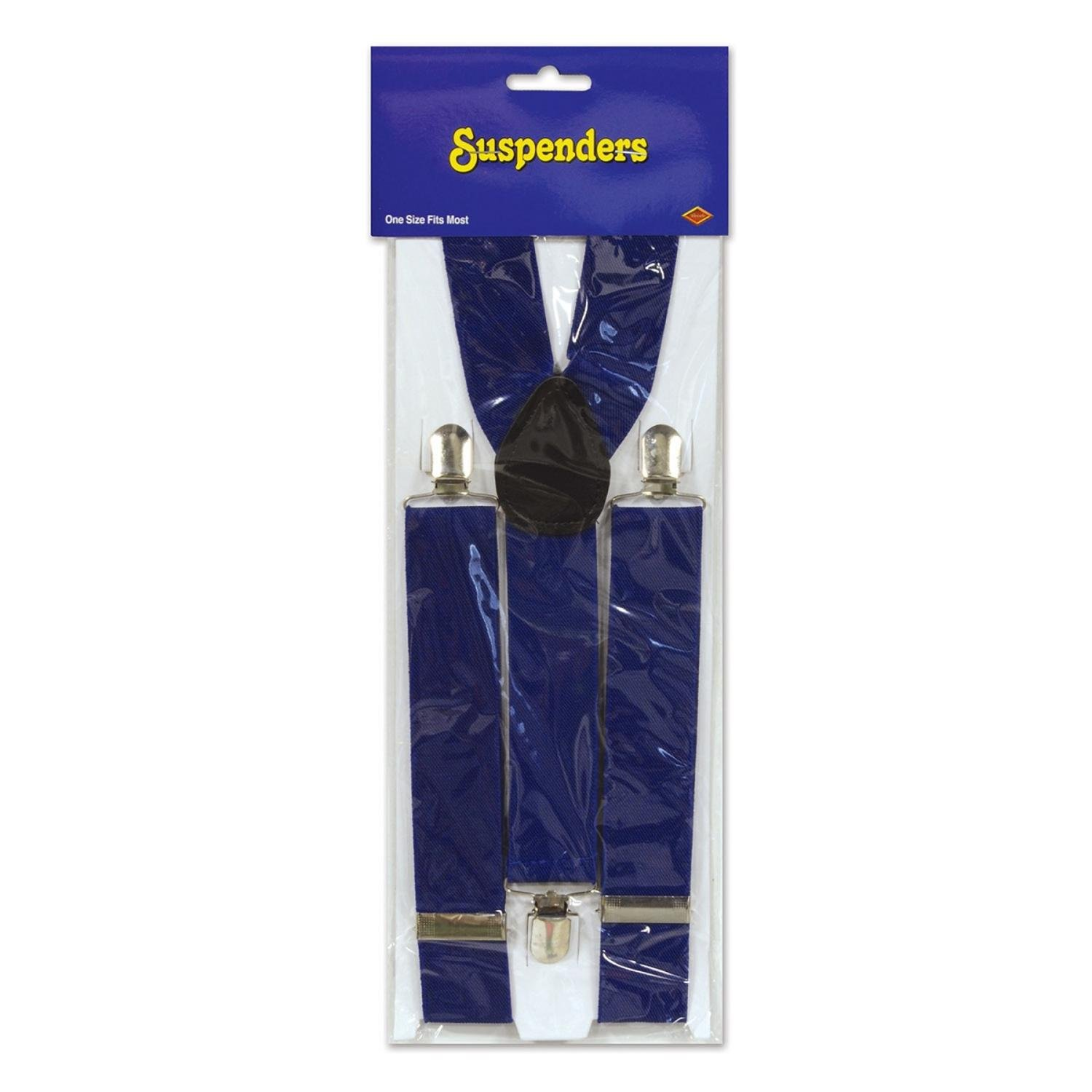 Club Pack of 12 Patriotic Dark Blue Adjustable Suspender Costume Accessories by Party Central