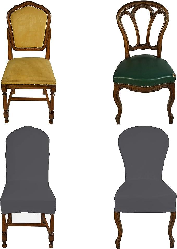 banzaii housse de chaise extensible avec dossier rond couverture de chaises de bureau cuisine salle a manger chambre hotel ou restaurant 4