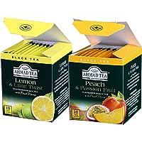 AHMAD TEA 亚曼 果味精选(柠檬香柠味红茶20g+水蜜桃百香果味红茶20g)(阿联酋进口)