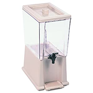 Rubbermaid Commercial Products FG335900CLR 5-Gallon Clear Beverage Dispenser