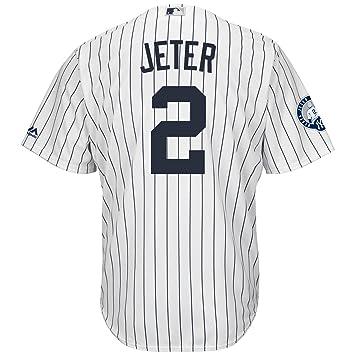 0b6f0565310 Majestic Derek Jeter  2 New York Yankees Cool Base MLB Jersey  w Retirement  Patch