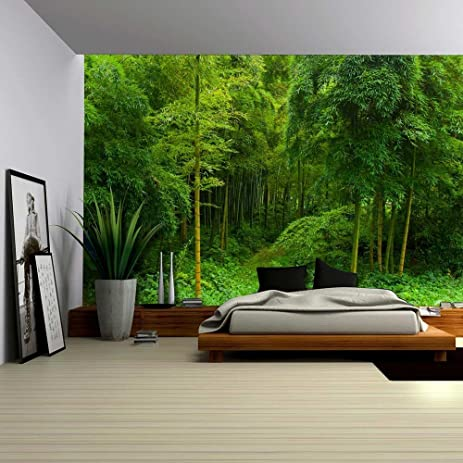 Amazoncom Wall26 Hidden Path in a Bamboo Forest Wall Mural