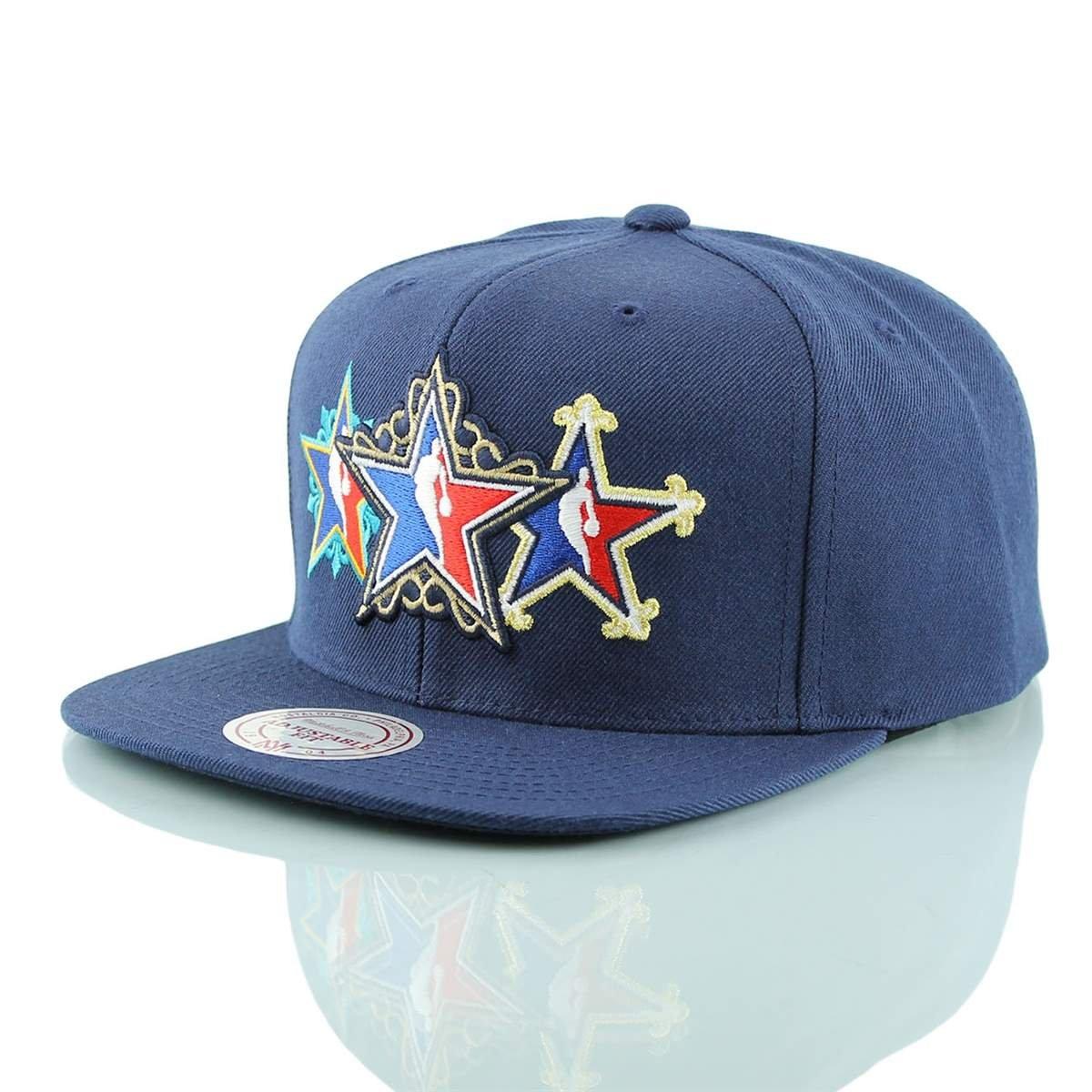 Mitchell   Ness 2017 NBA All-Star Game Historic Stars Snapback Cap Navy   Amazon.co.uk  Sports   Outdoors be3f428e667e