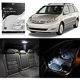 Partsam 2004-2010 Toyota Sienna Xenon White Interior LED Light Package Kit, Pack of