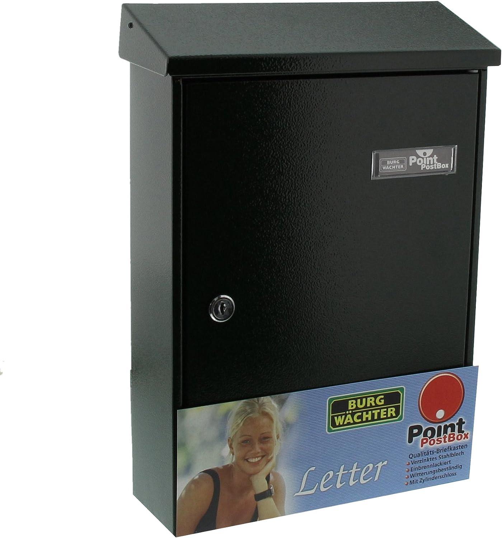 1 Supplied Letter 5832 E Burg W/ächter Letter//Mail Box Letter Iron-Coloured Sheet Steel