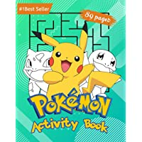 Pokemon Activity Book: For Kids Amazing Educational Jumbo Workbook for All Little Pokemon Go Fans. Puzzles Coloring…