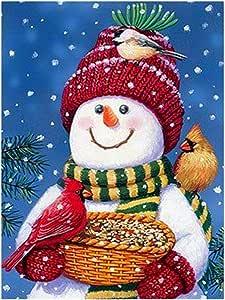 HOT 5D Diamond Painting Christmas Snowman Embroidery pols Stitch DIY Xma J3 J8D0