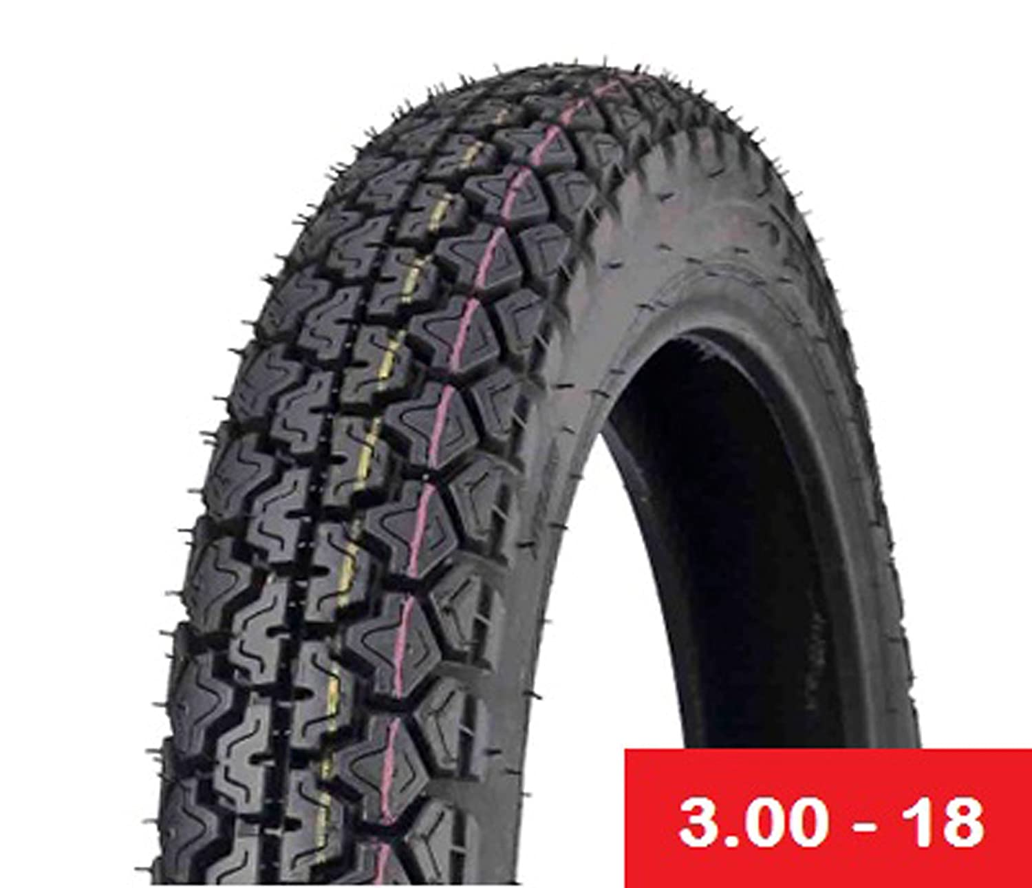 Street Cruiser MMG Tire Size 3.00-18 Front//Rear Motorcycle Tubetype