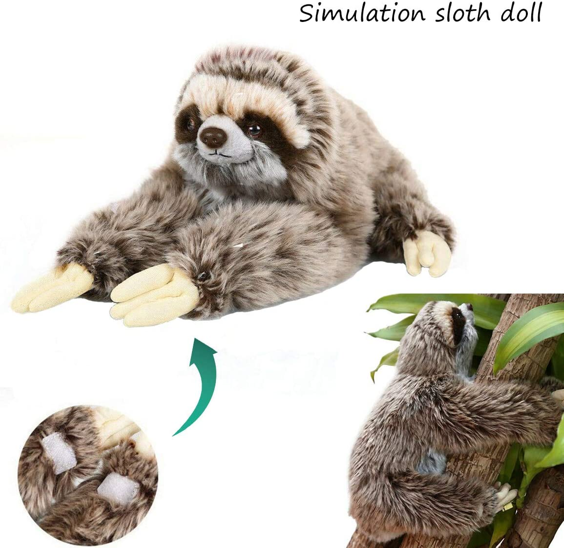 Cute Giant Sloth Stuffed Plush Animal Doll Soft Toys Pillow Cushion Xmas Gifts