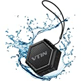 Altoparlante Bluetooth Esterno Portatile con Basso Impermeabile Esterna,VTIN Speaker Suono Stereo Waterproof Dustproof Crashproof con 5W Driver, per iPhone 7/6S/6S Plus/6/5S/SE/5, Galaxy S7/S6/S6 Edge/S5/S4/Note 7/6/5/4, iPad, Tablet, Huawei, Lumia, LG, Sony, Vodafone, HTC, Motorola, Smartphone ecc, Nero