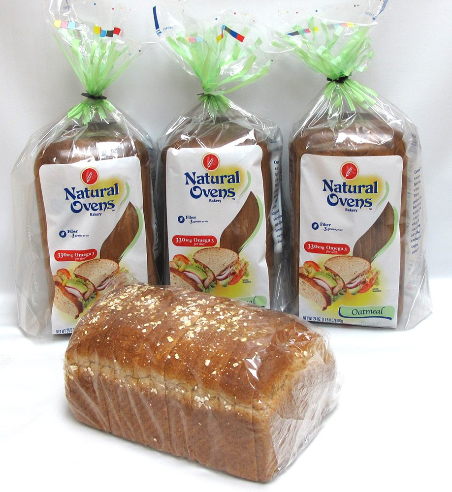 Natural Ovens Bakery Oatmeal Bread (Pack of 4)