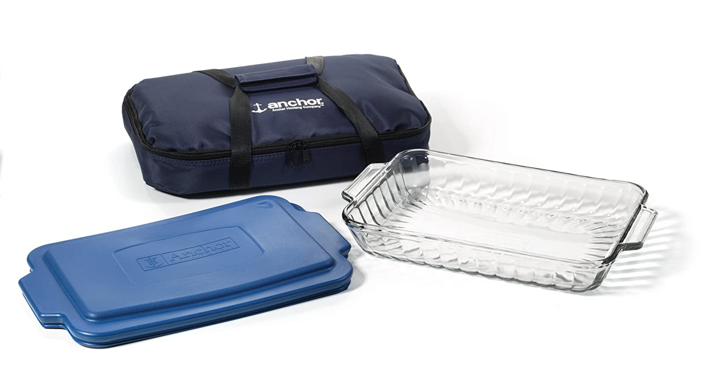 Anchor Hocking 3-Piece Essential Ovenware Set with Tote Bag 82258OBL11